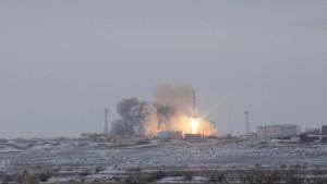 Raketlancering bij Baikanoer, Kazachstan