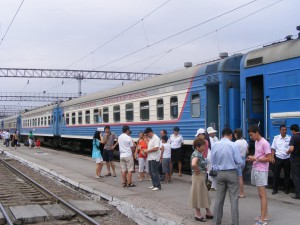 Kazakh train station