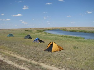 Free Camping in the Kazakh steppe