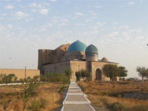 Khoja Ahmad Yasawi Mausoleum in Turkestan, Kazakhstan
