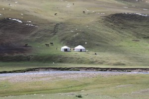 Kazakh yurts at the Assy Plateau