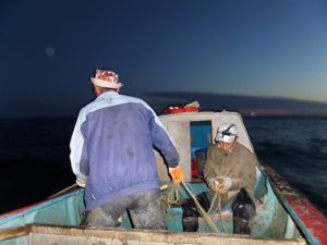 Fishermen on Northern Aral Sea