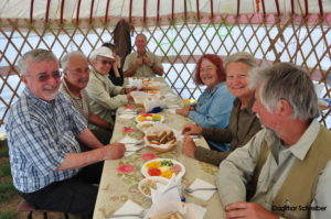 Meal in a yurt during Safari Tour in Kazakhstan