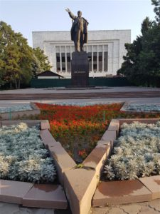 Lenin Statue in Bishkek, Kyrgyzstan