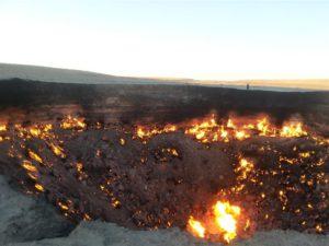 Darwaza gas crater, Turkmenistan