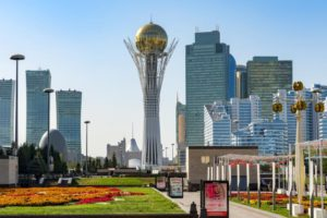 Central Nur-Sultan with the Bayterek Tower
