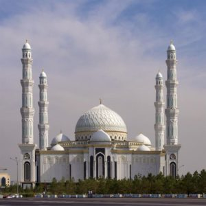 Hazrat Sultan Mosque in Nur-Sultan, Kazakhstan