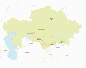 Tour Route in Kazakhstan