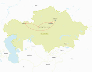 Tour Route in Kazakhstan