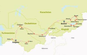 Tour Route in Central Asia