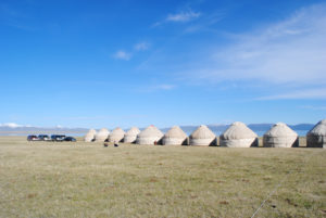 Yurts at the Son Kul Lake, Kyrgyzstan